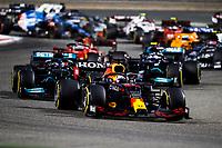 28th March 2021; Sakhir, Bahrain; F1 Grand Prix of Bahrain, Race Day;   Start of the race, 33 VERSTAPPEN Max nld, Red Bull Racing Honda RB16B during Formula 1 Gulf Air Bahrain Grand Prix 2021