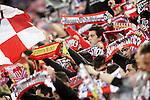 Atletico de Madrid's supporters during Champions League 2015/2016 Quarter-Finals 2nd leg match. April 13,2016. (ALTERPHOTOS/Acero)