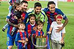FC Barcelona's forward Leo Messi, forward Luis Suarez and forward Neymar Santos Jr during Copa del Rey (King's Cup) Final between Deportivo Alaves and FC Barcelona at Vicente Calderon Stadium in Madrid, May 27, 2017. Spain.<br /> (ALTERPHOTOS/BorjaB.Hojas)