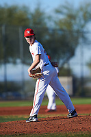 Nathan Lucero (44), from Antelope, California, while playing for the Nationals during the Under Armour Baseball Factory Recruiting Classic at Red Mountain Baseball Complex on December 29, 2017 in Mesa, Arizona. (Zachary Lucy/Four Seam Images)