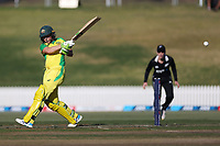 4th April 2021; Bay Oval, Taurange, New Zealand;  Australia's Alyssa Healy pulls a shot during the 1st women's ODI White Ferns versus Australia Rose Bowl cricket match at Bay Oval in Tauranga.