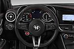 Car pictures of steering wheel view of a 2018 Alfa Romeo Giulia Quadrifoglio Base 4 Door Sedan
