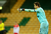 3rd November 2020; Carrow Road, Norwich, Norfolk, England, English Football League Championship Football, Norwich versus Millwall; Tim Krul of Norwich City organises his defence
