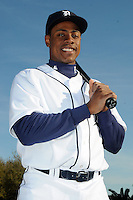 Feb 21, 2009; Lakeland, FL, USA; The Detroit Tigers outfielder Curtis Granderson (28) during photoday at Tigertown. Mandatory Credit: Tomasso De Rosa/ Four Seam Images
