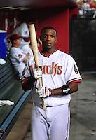 Apr. 30, 2008; Phoenix, AZ, USA; Arizona Diamondbacks outfielder Justin Upton against the Houston Astros at Chase Field. Mandatory Credit: Mark J. Rebilas-