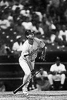 Terry Steinbach of the Oakland Athletics at Anaheim Stadium in Anaheim,California during the 1996 season. (Larry Goren/Four Seam Images)