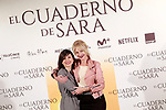 Spanish the actresses Belén Rueda (r) and Marian Álvarez during the photocall of presentation of the film 'El cuaderno de Sara'. January 30, 2018. (ALTERPHOTOS/Acero)