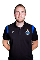 20th August 2020, Brugge, Belgium;  Jarno Verheye pictured during the team photo shoot of Club Brugge NXT prior the Proximus league football season 2020 - 2021 at the Belfius Base camp
