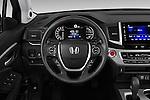 Car pictures of steering wheel view of a 2018 Honda Pilot EX-L 5 Door Suv Steering Wheel
