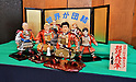 Traditional Japanese doll figures of world leaders in Samurai armor