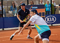Amstelveen, Netherlands, 1 August 2020, NTC, National Tennis Center, National Tennis Championships, Men's Doubles final:  Tallon Griekspoor (NED) (R) and Botic van de Zandschulp (NED)<br /> Photo: Henk Koster/tennisimages.com