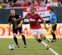 Gabriel Obertan. Manchester United defeated Philadelphia Union, 1-0.