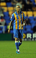 Pictured: Mark Wright of Shrewsbury celebrating his goal with team mate Shane Cansdell-Sherriff. Tuesday 23 August 2011<br /> Re: Carling Cup Shrewsbury Town FC v Swansea City FC at the Greenhous Meadow ground, Shropshire.
