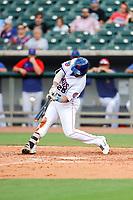 Tennessee Smokies catcher Tim Susnara (25) at bat against the Rocket City Trash Pandas at Smokies Stadium on July 2, 2021, in Kodak, Tennessee. (Danny Parker/Four Seam Images)