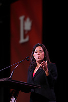 April 22 , 2014 - Plenary Keynote speaker Jody Wilson-Raybould, British Columbia regional chief for the Assembly of First Nations,at the 2014  Liberal Biennial Convention in Montreal.<br /> <br /> <br /> Photo : (c) Pierre Roussel - Images Distribution