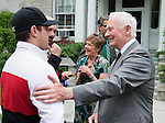 Ottawa ON - June 4 2014 - Mac Marcoux meets The Governor General, his excellency David Johnston during the Celebration of Excellence's visit to Rideau Hall. (Photo: Matthew Murnaghan/Canadian Paralympic Committee)