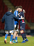 St Johnstone v Ross County…..29.12.19   McDiarmid Park   SPFL<br />Iain Vigurs at full time with Chris Kane and Jasson Holt<br />Picture by Graeme Hart.<br />Copyright Perthshire Picture Agency<br />Tel: 01738 623350  Mobile: 07990 594431
