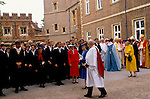 Queen visits Eton College on the 550th anniversary of the school. 1990