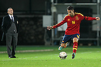 """Hugo Mallo.Siena 13/11/2012 Stadio """"Franchi"""".Football Calcio Nazionale U21.Italia v Spagna.Foto Insidefoto Paolo Nucci."""