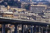 - Genoa, the waterfront causeway....- Genova, strada sopraelevata lungomare