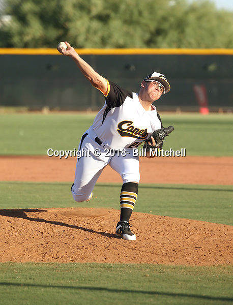 Dylan Delucia plays with the Canes Baseball National team in the Wilson Premier Championship West at the Kansas City Royals complex on July 8-11, 2018 in Surprise, Arizona (Bill Mitchell)