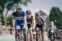 Fernando Gaviria (COL/Quick Step Floors) up the Mûr de Bretagne<br /> <br /> Stage 6: Brest > Mûr de Bretagne / Guerlédan (181km)<br /> <br /> 105th Tour de France 2018<br /> ©kramon