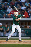 Brett Netzer (9) of the Charlotte 49ers at bat against the Georgia Bulldogs at BB&T Ballpark on March 8, 2016 in Charlotte, North Carolina. The 49ers defeated the Bulldogs 15-4. (Brian Westerholt/Four Seam Images)