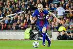 Andres Iniesta Lujan of FC Barcelona in action during the UEFA Champions League 2017-18 quarter-finals (1st leg) match between FC Barcelona and AS Roma at Camp Nou on 05 April 2018 in Barcelona, Spain. Photo by Vicens Gimenez / Power Sport Images