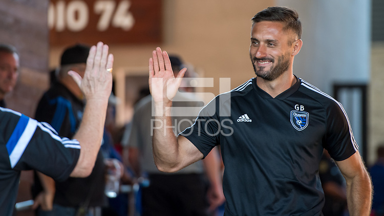 SAN JOSÉ CA - JULY 27: Coach Guido Bonini during a Major League Soccer (MLS) match between the San Jose Earthquakes and the Colorado Rapids on July 27, 2019 at Avaya Stadium in San José, California.