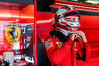 10th October 2020, Nuerburgring, Nuerburg, Germany; FIA Formula 1 Eifel Grand Prix, Qualifying sessions;  16 Charles Leclerc MCO, Scuderia Ferrari Mission Winnow in the pits
