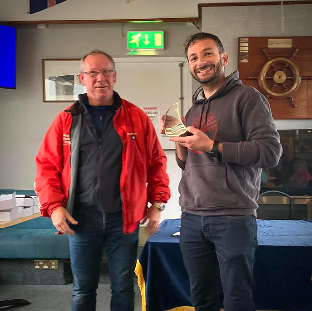 Andrew Gallagher runner up in the Silver Fleet of the Ulster Windsurfing Championships