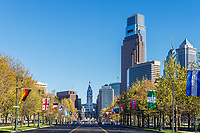 Franklin Parkway, Downtown Philadelphia, Pennsylvania, USA.