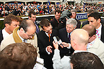 Horse Racing - Leopardstown Racecourse - Irish Champion Stakes.Aidan O'Brien who trained Cape Blanco with Seamie (J A) Heffernan aboard to win the The Tattersalls Millions Irish Champion Stakes at Leopardstown Racecourse in Dublin.