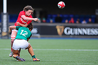 Alisha Butchers of Wales in action during the Women's Six Nations match between Wales and Ireland at Cardiff Arms Park, Cardiff, Wales, UK. Sunday 17 March 2019