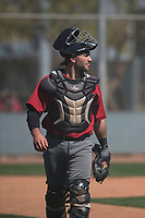 Arizona Diamondbacks catcher Tim Susnara (40) during Spring Training Camp at Salt River Fields at Talking Stick on March 12, 2018 in Scottsdale, Arizona. (Zachary Lucy/Four Seam Images)