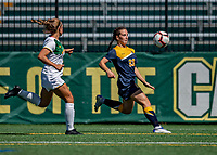 1 September 2019: Merrimack College Warrior Forward Molly Murnane, a Freshman from Scarborough, Maine, in action against the University of Vermont Catamounts in Game 3 of the TD Bank Women's Soccer Classic at Virtue Field in Burlington, Vermont. The Lady Warriors rallied in the second half to defeat the Catamounts 2-1. Mandatory Credit: Ed Wolfstein Photo *** RAW (NEF) Image File Available ***