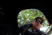 Apr. 30, 2011; Baytown, TX, USA: NHRA funny car driver Brian Thiel during qualifying for the Spring Nationals at Royal Purple Raceway. Mandatory Credit: Mark J. Rebilas-