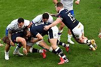 Duhan van der Merwe of Scotland, Marco Zanon of Italy , Sam Johnson of Scotland, Giosue Zilocchi of Italy and Stuart Hogg of Scotland during the rugby Autumn Nations Cup's match between Italy and Scotland at Stadio Artemio Franchi on November 14, 2020 in Florence, Italy. Photo Andrea Staccioli / Insidefoto