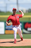 Clearwater Threshers pitcher Ethan Stewart (22) during a game against the Tampa Yankees on April 9, 2014 at Bright House Field in Clearwater, Florida.  Tampa defeated Clearwater 5-3.  (Mike Janes/Four Seam Images)