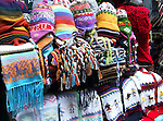 A variety of souvenirs made of Peruvian wool.