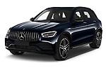 2021 Mercedes Benz GLC AMG-43 5 Door SUV Angular Front automotive stock photos of front three quarter view