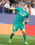 Atletico de Madrid's Jan Oblak during Champions League 2015/2016 match. September 30,2015. (ALTERPHOTOS/Acero)