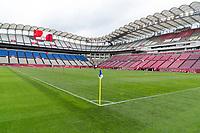 KASHIMA, JAPAN - AUGUST 2: Kashima Soccer Stadium before a game between Canada and USWNT at Kashima Soccer Stadium on August 2, 2021 in Kashima, Japan.