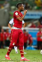 Jordan Ayew of Ghana wears his shorts low revealing his underwear