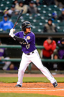 Louisville Bats infielder Kristopher Negron #17 during a game against the Indianapolis Indians on April 19, 2013 at Louisville Slugger Field in Louisville, Kentucky.  Indianapolis defeated Louisville 4-1.  (Mike Janes/Four Seam Images)