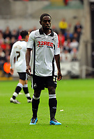 ATTENTION SPORTS PICTURE DESK<br /> Pictured: Nathan Dyer of Swansea City in action <br /> Re: Coca Cola Championship, Swansea City Football Club v Cardiff City FC at the Liberty Stadium, Swansea, south Wales. Saturday 07 November 2009
