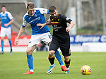 St Johnstone v Partick Thistle…19.08.17… McDiarmid Park… SPFL<br />Steven Lawless holds off David Wotherspoon<br />Picture by Graeme Hart.<br />Copyright Perthshire Picture Agency<br />Tel: 01738 623350  Mobile: 07990 594431