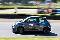 Through Devils Elbow with Halfords Fiat 500E electric rallycross car during the 5 Nations BRX Championship at Lydden Hill Race Circuit on 31st May 2021