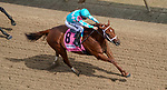 September 4, 2020: Monomoy Girl, #8, ridden by Florent Geroux, wins the La Troienne on Kentucky Oaks Day. The races are being run without fans due to the coronavirus pandemic that has gripped the world and nation for much of the year, with only essential personnel, media and ownership connections allowed to attend at Churchill Downs in Louisville, Kentucky. John Voorhees/Eclipse Sportswire/CSM