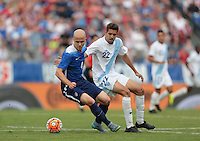 Nashville, Tenn. - Friday, July 3, 2015: The US Men's National team go up 1-0 over Guatemala during first half play in an international friendly match at Nissan stadium.